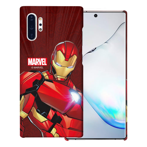 Galaxy Note10 Plus Case (6.8inch) Marvel Avengers [Slim Fit] Thin Hard Matte Surface Excellent Grip Cover - Illustration Iron Man