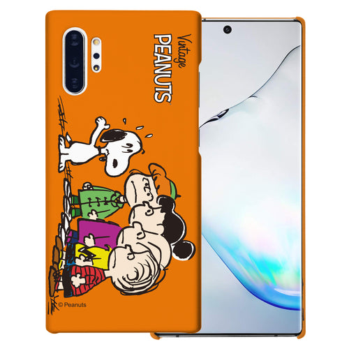 Galaxy Note10 Plus Case (6.8inch) [Slim Fit] PEANUTS Thin Hard Matte Surface Excellent Grip Cover - Cute Snoopy Friends