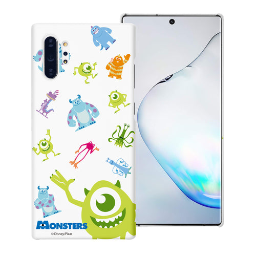 Galaxy Note10 Case (6.3inch) [Slim Fit] Monsters University inc Thin Hard Matte Surface Excellent Grip Cover - Pattern Monsters