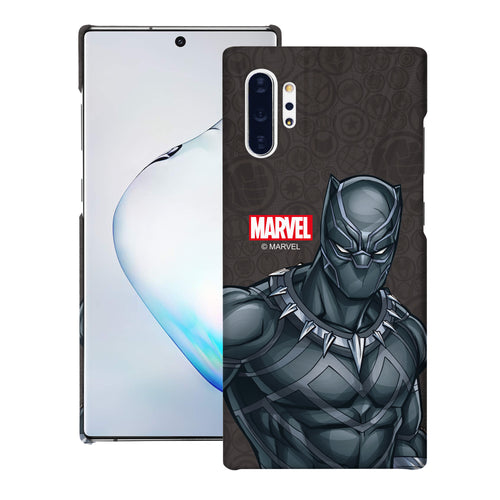 Galaxy Note10 Plus Case (6.8inch) Marvel Avengers [Slim Fit] Thin Hard Matte Surface Excellent Grip Cover - Illustration Black Panther