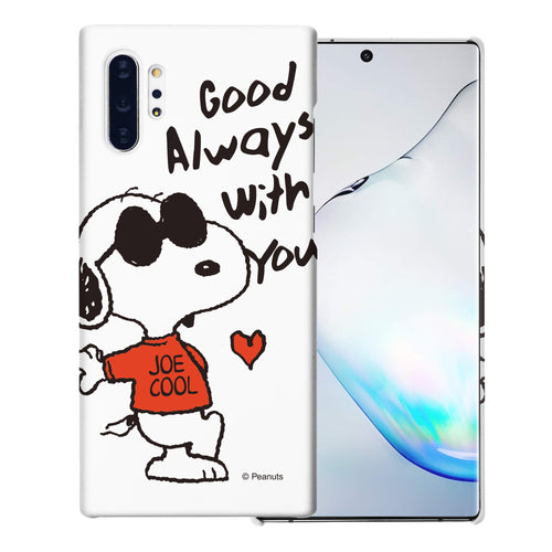 Galaxy Note10 Plus Case (6.8inch) [Slim Fit] PEANUTS Thin Hard Matte Surface Excellent Grip Cover - Snoopy Love Red
