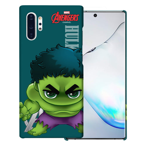 Galaxy Note10 Plus Case (6.8inch) Marvel Avengers [Slim Fit] Thin Hard Matte Surface Excellent Grip Cover - Mini Hulk