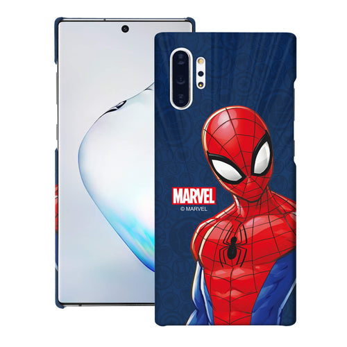 Galaxy Note10 Plus Case (6.8inch) Marvel Avengers [Slim Fit] Thin Hard Matte Surface Excellent Grip Cover - Illustration Spider Man