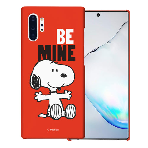 Galaxy Note10 Plus Case (6.8inch) [Slim Fit] PEANUTS Thin Hard Matte Surface Excellent Grip Cover - Snoopy Be Mine Red