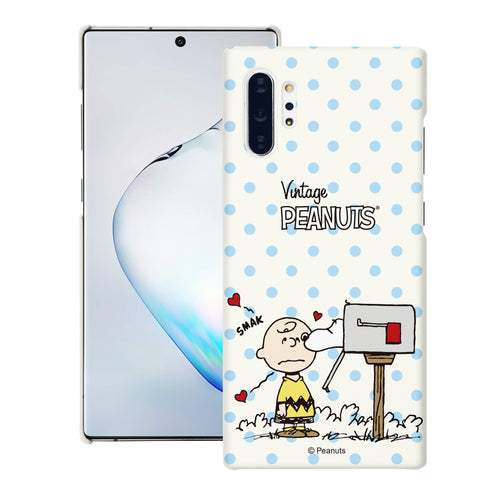 Galaxy Note10 Plus Case (6.8inch) [Slim Fit] PEANUTS Thin Hard Matte Surface Excellent Grip Cover - Smack Charlie Brown Mailbox