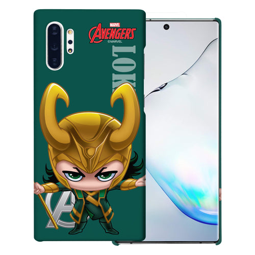 Galaxy Note10 Case (6.3inch) Marvel Avengers [Slim Fit] Thin Hard Matte Surface Excellent Grip Cover - Mini Loki