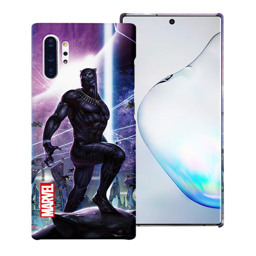 Galaxy Note10 Case (6.3inch) Marvel Avengers [Slim Fit] Thin Hard Matte Surface Excellent Grip Cover - Black Panther Stand