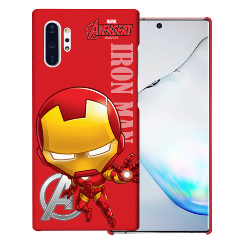 Galaxy Note10 Case (6.3inch) Marvel Avengers [Slim Fit] Thin Hard Matte Surface Excellent Grip Cover - Mini Iron Man