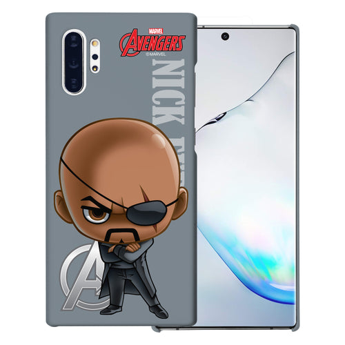 Galaxy Note10 Case (6.3inch) Marvel Avengers [Slim Fit] Thin Hard Matte Surface Excellent Grip Cover - Mini Nick Fury
