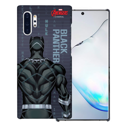 Galaxy Note10 Plus Case (6.8inch) Marvel Avengers [Slim Fit] Thin Hard Matte Surface Excellent Grip Cover - Back Black Panther
