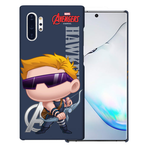 Galaxy Note10 Plus Case (6.8inch) Marvel Avengers [Slim Fit] Thin Hard Matte Surface Excellent Grip Cover - Mini Hawkeye
