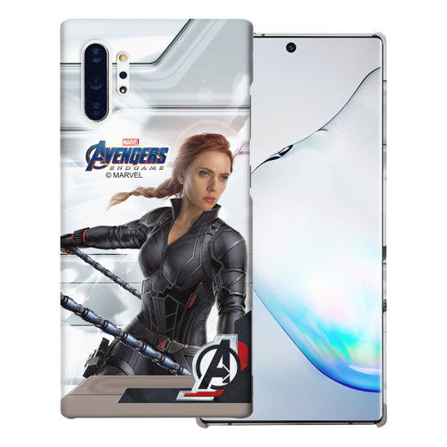Galaxy Note10 Plus Case (6.8inch) Marvel Avengers [Slim Fit] Thin Hard Matte Surface Excellent Grip Cover - End Game Black Widow