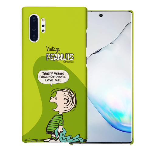 Galaxy Note10 Plus Case (6.8inch) [Slim Fit] PEANUTS Thin Hard Matte Surface Excellent Grip Cover - Cartoon Linus