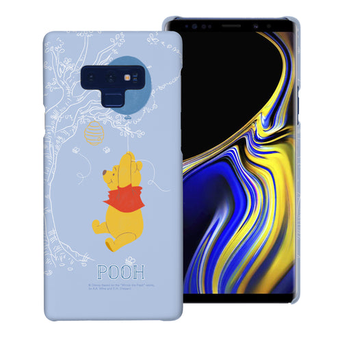 Galaxy Note9 Case [Slim Fit] Disney Pooh Thin Hard Matte Surface Excellent Grip Cover - Balloon Pooh Sky