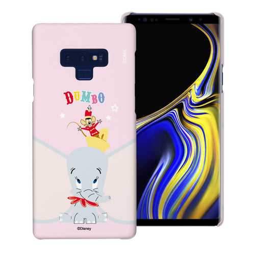 Galaxy Note9 Case [Slim Fit] Disney Dumbo Thin Hard Matte Surface Excellent Grip Cover - Dumbo Overhead