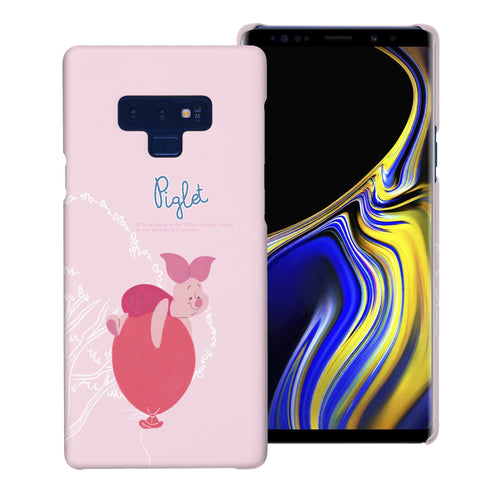 Galaxy Note9 Case [Slim Fit] Disney Pooh Thin Hard Matte Surface Excellent Grip Cover - Balloon Piglet