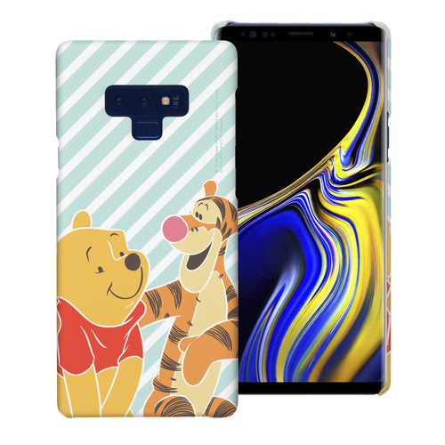 Galaxy Note9 Case [Slim Fit] Disney Pooh Thin Hard Matte Surface Excellent Grip Cover - Stripe Pooh Tigger
