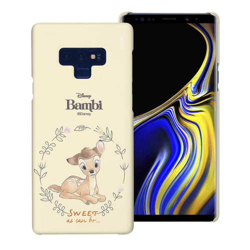 Galaxy Note9 Case [Slim Fit] Disney Bambi Thin Hard Matte Surface Excellent Grip Cover - Full Bambi