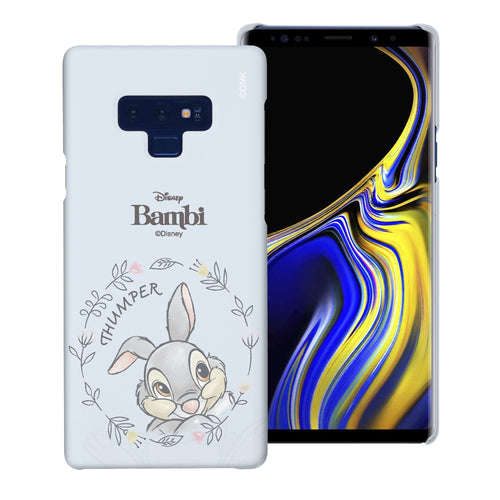 Galaxy Note9 Case [Slim Fit] Disney Bambi Thin Hard Matte Surface Excellent Grip Cover - Face Thumper