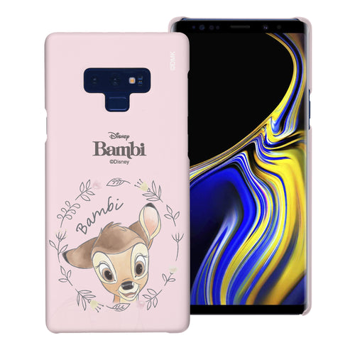 Galaxy Note9 Case [Slim Fit] Disney Bambi Thin Hard Matte Surface Excellent Grip Cover - Face Bambi