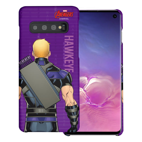 Galaxy S10 5G Case (6.7inch) Marvel Avengers [Slim Fit] Thin Hard Matte Surface Excellent Grip Cover - Back Hawkeye