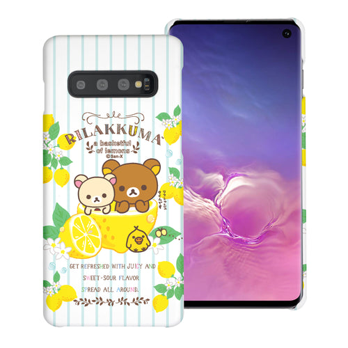 Galaxy S10e Case (5.8inch) [Slim Fit] Rilakkuma Thin Hard Matte Surface Excellent Grip Cover - Rilakkuma Lemon
