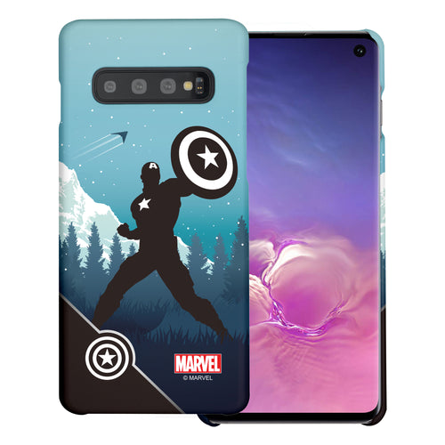 Galaxy S10 5G Case (6.7inch) Marvel Avengers [Slim Fit] Thin Hard Matte Surface Excellent Grip Cover - Shadow Captain America
