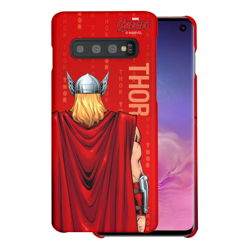 Galaxy S10 Plus Case (6.4inch) Marvel Avengers [Slim Fit] Thin Hard Matte Surface Excellent Grip Cover - Back Thor