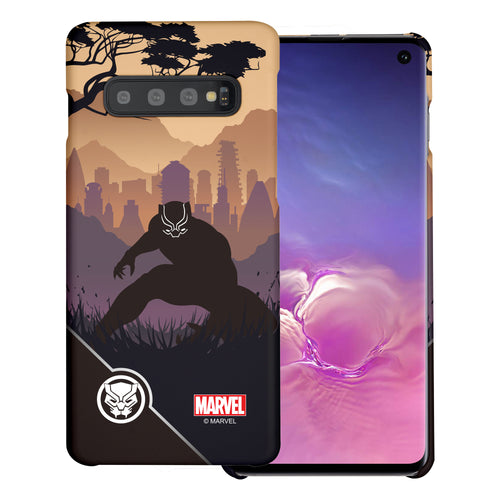 Galaxy S10 Plus Case (6.4inch) Marvel Avengers [Slim Fit] Thin Hard Matte Surface Excellent Grip Cover - Shadow Black Panther