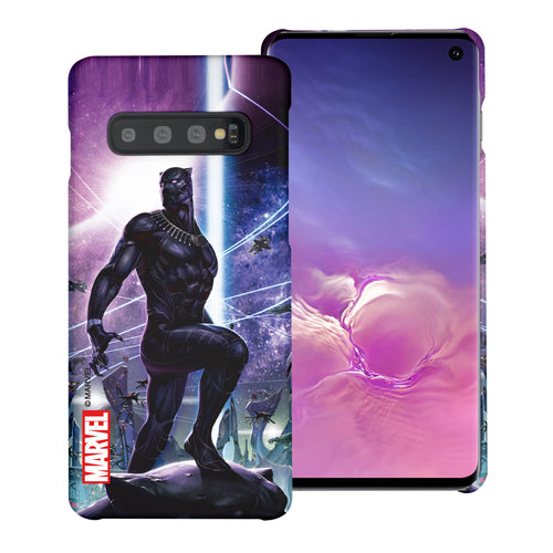Galaxy S10 5G Case (6.7inch) Marvel Avengers [Slim Fit] Thin Hard Matte Surface Excellent Grip Cover - Black Panther Stand
