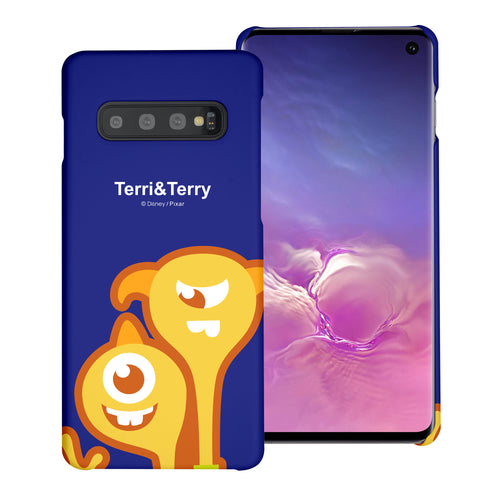 Galaxy S10 Plus Case (6.4inch) [Slim Fit] Monsters University inc Thin Hard Matte Surface Excellent Grip Cover - Big Terri and Terry