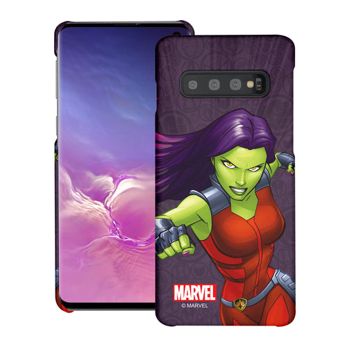 Galaxy S10 Plus Case (6.4inch) Marvel Avengers [Slim Fit] Thin Hard Matte Surface Excellent Grip Cover - Illustration Gamora