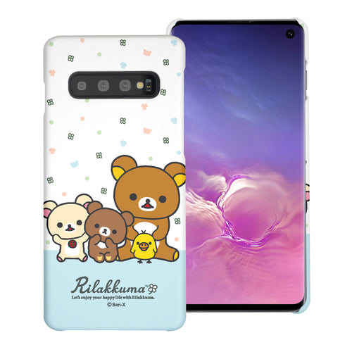 Galaxy S10e Case (5.8inch) [Slim Fit] Rilakkuma Thin Hard Matte Surface Excellent Grip Cover - Rilakkuma Friends