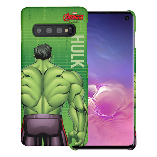 Galaxy S10 5G Case (6.7inch) Marvel Avengers [Slim Fit] Thin Hard Matte Surface Excellent Grip Cover - Back Hulk