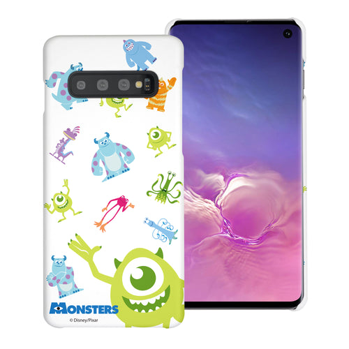 Galaxy S10 Plus Case (6.4inch) [Slim Fit] Monsters University inc Thin Hard Matte Surface Excellent Grip Cover - Pattern Monsters