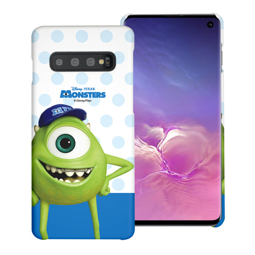Galaxy S10 Plus Case (6.4inch) [Slim Fit] Monsters University inc Thin Hard Matte Surface Excellent Grip Cover - Movie Mike