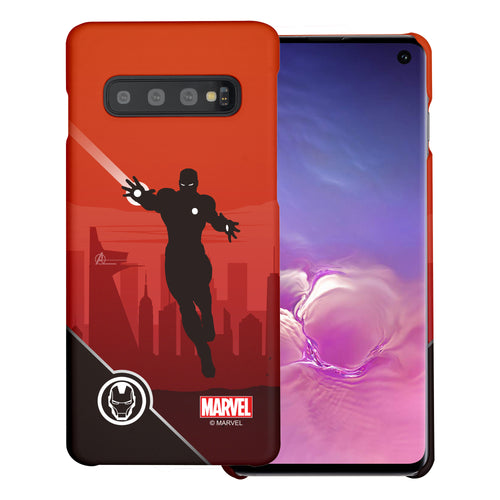 Galaxy S10 5G Case (6.7inch) Marvel Avengers [Slim Fit] Thin Hard Matte Surface Excellent Grip Cover - Shadow Iron Man
