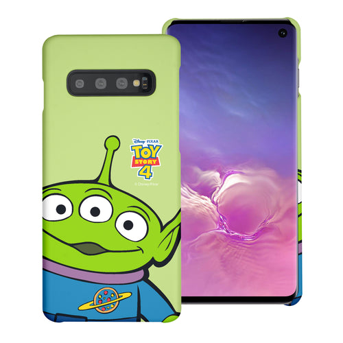 Galaxy S10 Plus Case (6.4inch) [Slim Fit] Toy Story Thin Hard Matte Surface Excellent Grip Cover - Wide Alien