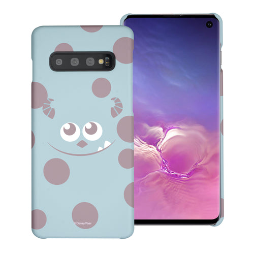 Galaxy S10 Case (6.1inch) [Slim Fit] Monsters University inc Thin Hard Matte Surface Excellent Grip Cover - Face Sulley
