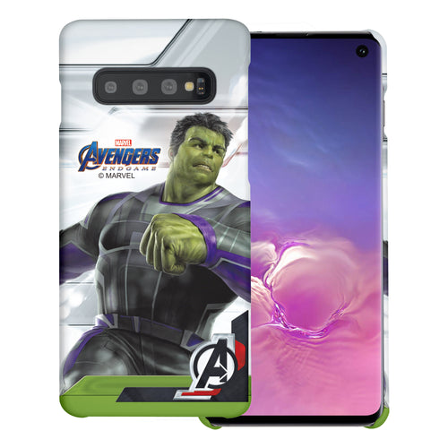 Galaxy S10 Plus Case (6.4inch) Marvel Avengers [Slim Fit] Thin Hard Matte Surface Excellent Grip Cover - End Game Hulk
