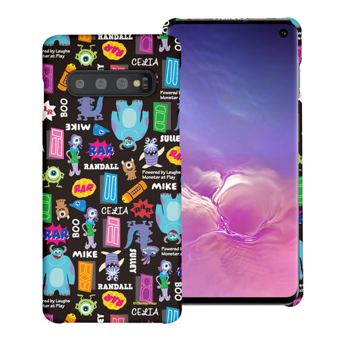 Galaxy S10 Plus Case (6.4inch) [Slim Fit] Monsters University inc Thin Hard Matte Surface Excellent Grip Cover - Pattern Name Black