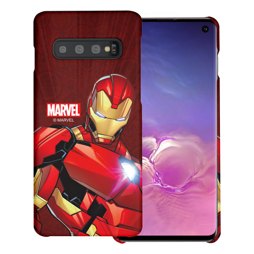 Galaxy S10 5G Case (6.7inch) Marvel Avengers [Slim Fit] Thin Hard Matte Surface Excellent Grip Cover - Illustration Iron Man