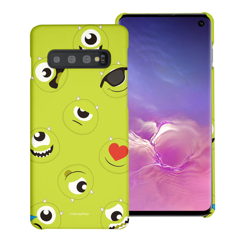 Galaxy S10 Plus Case (6.4inch) [Slim Fit] Monsters University inc Thin Hard Matte Surface Excellent Grip Cover - Pattern Mike
