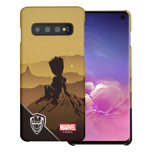 Galaxy S10 5G Case (6.7inch) Marvel Avengers [Slim Fit] Thin Hard Matte Surface Excellent Grip Cover - Shadow Groot