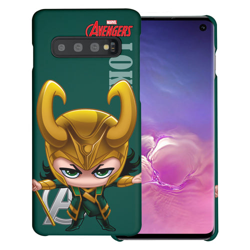 Galaxy S10 5G Case (6.7inch) Marvel Avengers [Slim Fit] Thin Hard Matte Surface Excellent Grip Cover - Mini Loki