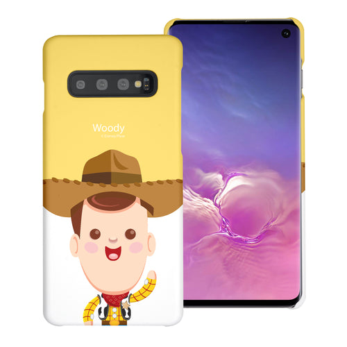 Galaxy S10 Plus Case (6.4inch) [Slim Fit] Toy Story Thin Hard Matte Surface Excellent Grip Cover - Baby Woody