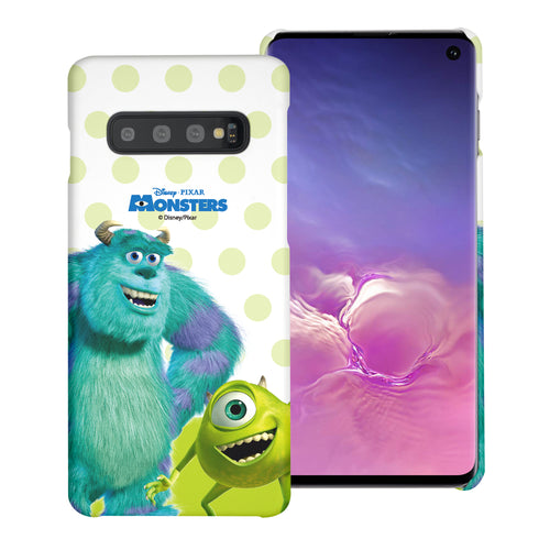 Galaxy S10 Plus Case (6.4inch) [Slim Fit] Monsters University inc Thin Hard Matte Surface Excellent Grip Cover - Movie Mike Sulley