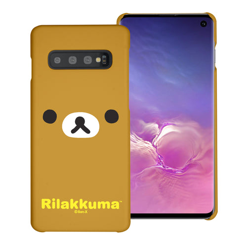 Galaxy S10e Case (5.8inch) [Slim Fit] Rilakkuma Thin Hard Matte Surface Excellent Grip Cover - Face Rilakkuma
