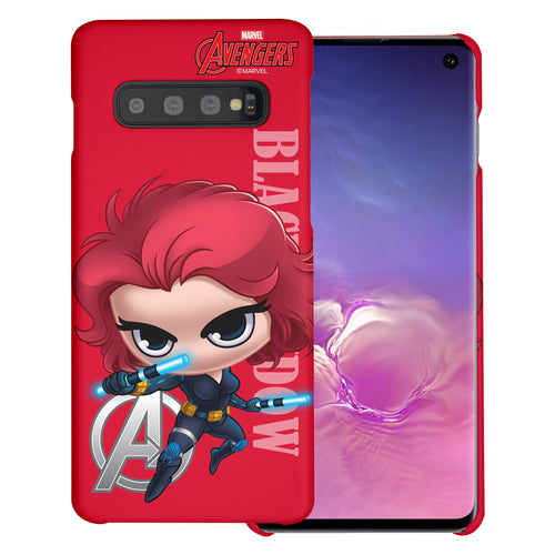 Galaxy Note8 Case Marvel Avengers [Slim Fit] Thin Hard Matte Surface Excellent Grip Cover - Mini Black Widow