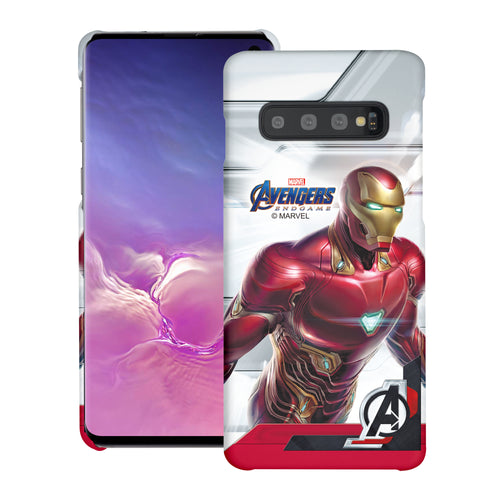Galaxy S10 Plus Case (6.4inch) Marvel Avengers [Slim Fit] Thin Hard Matte Surface Excellent Grip Cover - End Game Iron Man